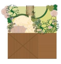 atrium project patio vector image vector image