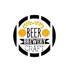 Beer brewery logo design template vector