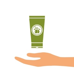 olive oil hand cram vector image vector image