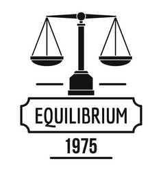 Equilibrium logo simple black style vector
