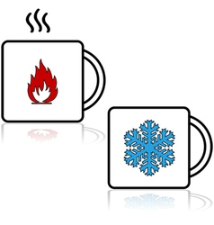 Hot and cold beverages vector image vector image