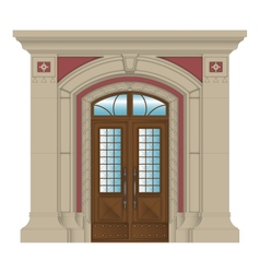 image stone entrance of house vector image