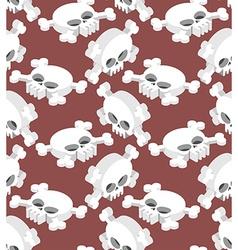 Isometric Skull seamless pattern Head skeletal vector image vector image
