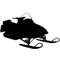 snowmobile silhouette vector image vector image