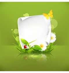 Spring frame green vector image vector image