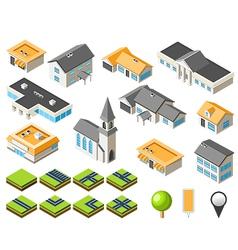 suburban community vector image vector image