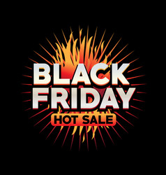 black friday sign vector image vector image