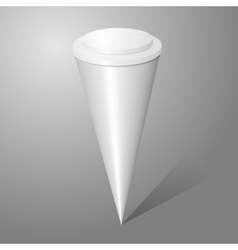 blank ice cream cone package isolated on gray vector image