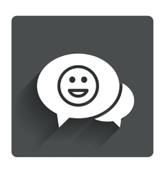 Chat Smile icon Happy face symbol vector image vector image