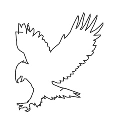 eagle outline icon vector image