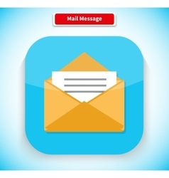 Mail Message App Icon Flat Style Design vector image