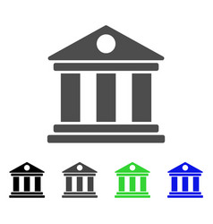 museum flat icon vector image