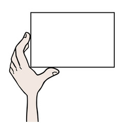 white card vector image