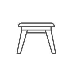 wooden stool icon in linear style vector image vector image