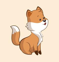 cute fox wildlife image vector image