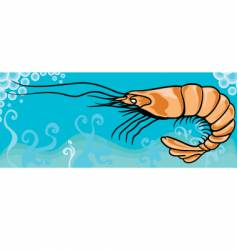 shrimp vector image vector image