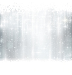 Silver winter christmas background vector