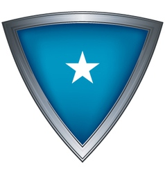 steel shield with flag galmudug vector image vector image