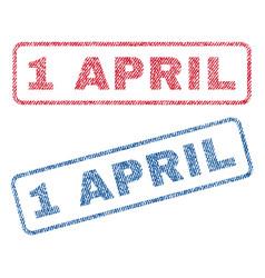 1 april textile stamps vector