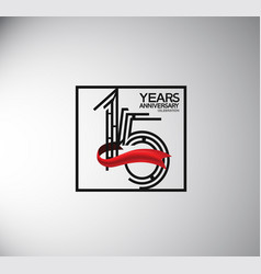15 years anniversary logotype flat style vector