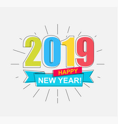2019 happy new year card vector image