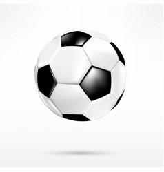 3d black and white soccer ball on white vector image