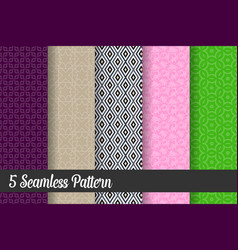 5 seamless pattern background design vector image