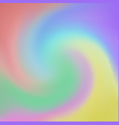 abstract of rainbow color in swirl background vector image