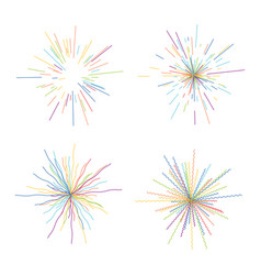 Abstract radial bursts colorful star explosion vector