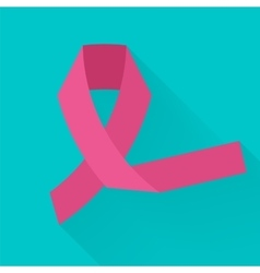 Against cancer pink ribbon symbolizing vector