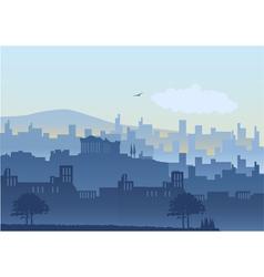 An athens cityscape vector