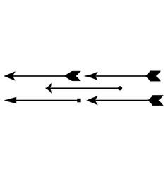 Arrow archer icon set collection vector