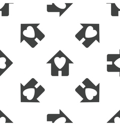 Beloved house pattern vector