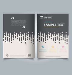 Brochure template gray rounded lines halftone vector