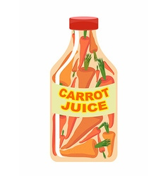 Carrot juice Juice from fresh vegetables Carrots vector image vector image