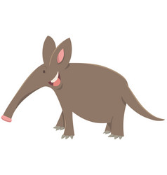 Cartoon aardvark animal character vector