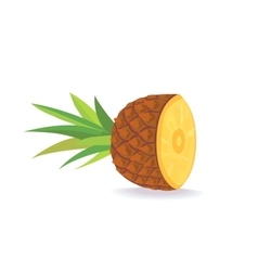 cartoon Pineapple on white background flat vector image