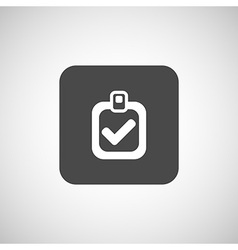 checkmark icon test form mark tick check vector image