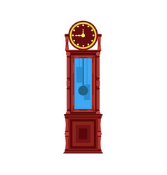 clock vintage floor interior antique furniture vector image