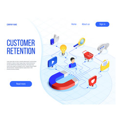 Customer retention business marketing branding vector