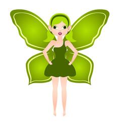 Cute magic fairy fantasy creature vector