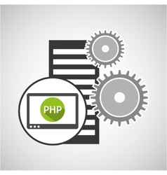 database setting php computer web vector image
