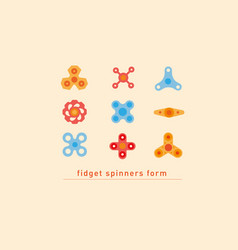 design linear multicolored icons of fidget vector image