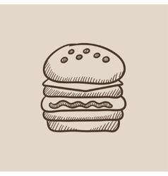 Double burger sketch icon vector image