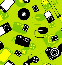 Electronic Gadgets Seamless Pattern vector image