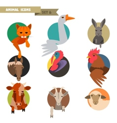Farm animals avatars vector image