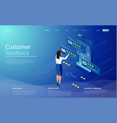 feedback or rating concept client make a review vector image