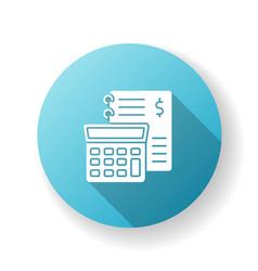 Financial accounting blue flat design long shadow vector