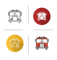 Fire engine icon vector