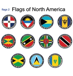 Flags north america vector